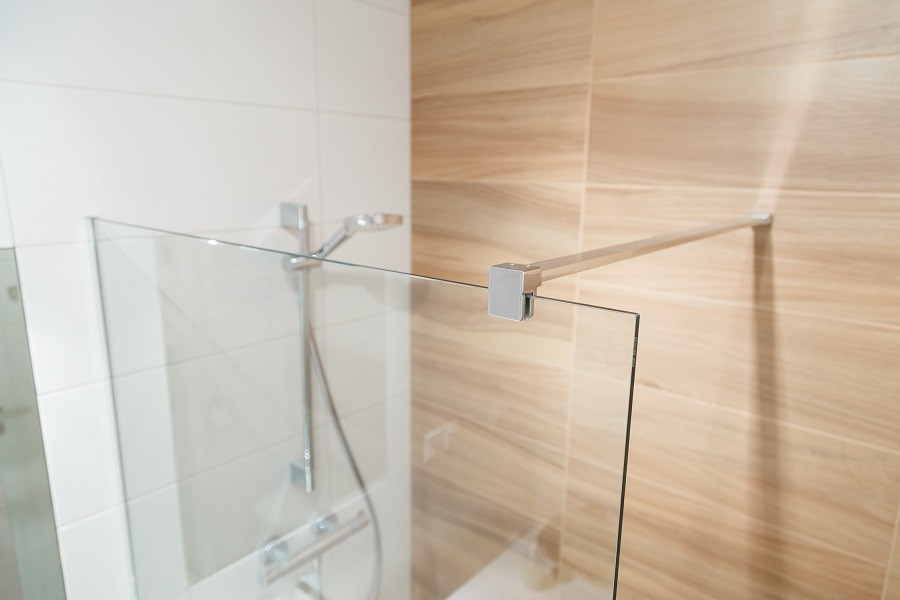 Clamp for Glass curtain for the bathroom